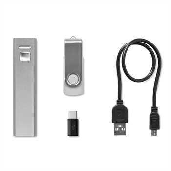 Usb&Power Set Powerbank/8GB USB-Stick