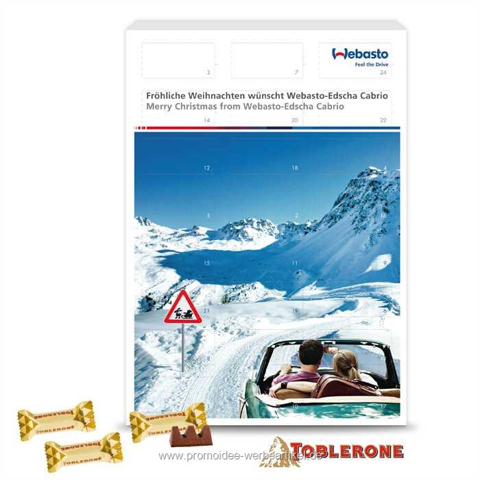 Wand-Adventskalender Toblerone
